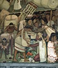 Rivera, Marché de Tlatelolco – Marchand de légumes