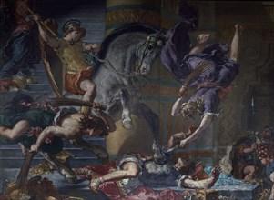 Delacroix, Heliodore chassé du Temple (détail)