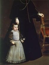 Vélasquez, Portrait d'Antonia de Ipeñarrieta avec son fils Luis (détail)