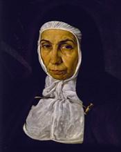 Vélasquez, La Vénérable Mère Jeronima de la Fuente (détail)