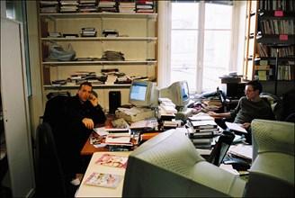 02/25/2004. Jean-Marc Morandini close-up in Paris
