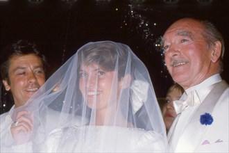 Mariage d'Eddie Barclay et Cathy Esposito, 1984