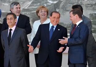 Nicolas Sarkozy, Silvio Berlusconi & Dimitry Medvedev