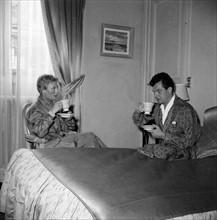 Michèle Morgan et Henri Vidal