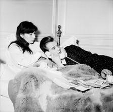 Juliette Gréco et son mari Philippe Lemaire