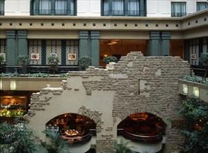 VESTIGES DE MUR ROMAIN, HOTEL RADISSON, BRUXELLES, BELGIQUE