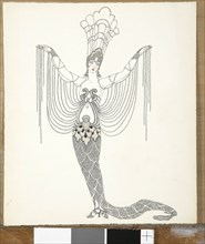 """Barbier, """"Sirène à la robe de perles"""""""