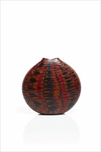 Micheluzzi, Red, Black and Brown Murrine vase