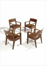 Jean Royere, Suite de quatre fauteuils