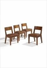 Jean Royere, Suite de quatre Chaises