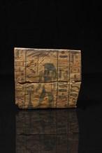 Ensemble composé de deux panneaux d'un sarcophage peints de deux des fils d'Horus