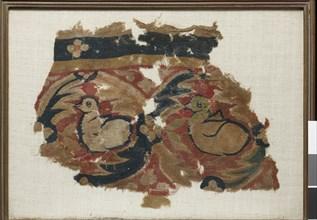 Bandeau de tenture orné de deux canards
