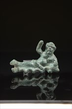 Figurine, représentant Silène barbu