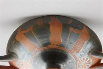 Kylix à figures rouges de l'entourage du Peintre de Penthésilée (détail)