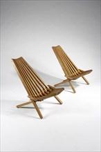 Deux fauteuils d'origine scandinave
