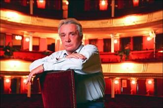 "09/00/2001.  French singer Michel Sardou new owner of the ""Porte St Martin""."