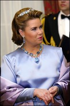 03/04/2002. Grand Duke Henry of Luxembourg and wife Maria-Teresa on visit in Ireland