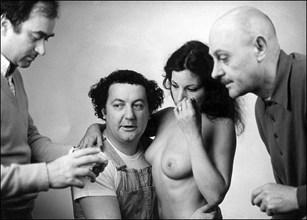 2002. Coluche, Georges Wolinski et le Professeur Choron