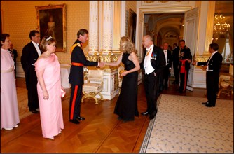 06/22/2002.  Reception at the Grand Ducal palace as part of celebration of first anniversary of the accession of Grand Duke Henri to the throne of Luxembourg.
