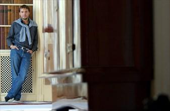 """09/30/2002. Romain Sardou at Home, publishes his first novels """"Pardonnez nos offenses""""."""