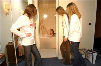 12/11/2002. Backstage during the Karin Models New Generation Contest 2002