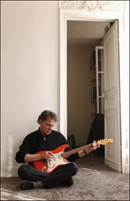 03/00/2003. EXCLUSIVE Yves Simon, at home.