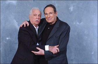 """01/10/2004.  France's 50 favorite celebs star in Michel Drucker's TV show """"Vos Francais de coeur"""""""