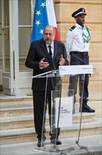 Passation de pouvoir au Ministère de la Justice entre Nicole Belloubet et Eric Dupond Moretti, le 7 juillet 2020