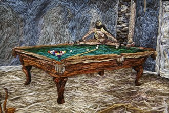 Détail d'un tableau brodé de l'artiste Sophia Narrett
