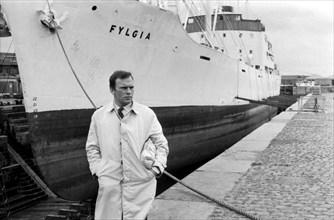 """Jean-Louis Trintignant sur le tournage du film """"Trans-Europ-Express"""""""
