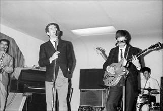 Eddy Mitchell en répétitions, 1965