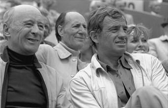 Michel Audiard et Jean-Paul Belmondo, 1979