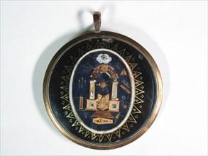 Médaillon de ponton, décor au tapis de loge
