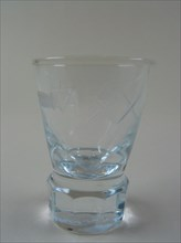 Verre anglais type « firing glass »