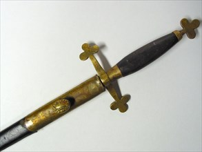 Epée maçonnique avec son fourreau