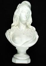 Marianne maçonnique en plâtre, 67 x 38 x 32 cm, fin 20e siècle