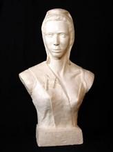 Marianne maçonnique en plâtre, 68 x 43 x 25 cm, milieu 20e siècle