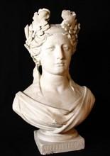 Marianne aux lauriers en plâtre