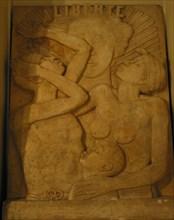 Relief en plâtre « Liberté », en commémoration de la libération des esclaves en 1848