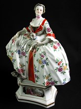 Figurine en porcelaine Saxe dite de Meissen