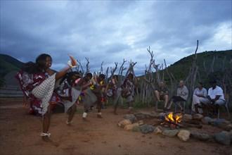 """De la Harpe, Visiteurs avec les Safaris 'South African Horse Back"""""""