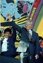 Nelson Mandela et sa femme Winnie