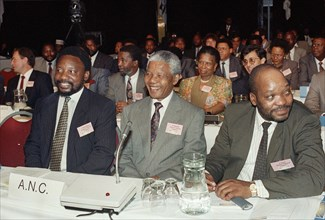 Cyril Ramaphosa, Nelson Mandela et Jacob Zuma