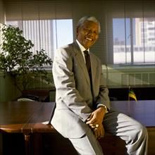Portrait de Nelson Mandela
