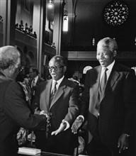 Desmond Tutu, Oliver Tambo et Nelson Mandela