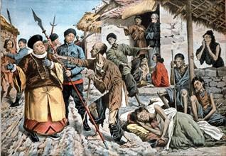 Le choléra se répand parmi les victimes de la famine en Chine, 1907