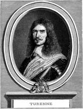 Gravure représentant Henri de la Tour d'Auvergne, Vicomte de Turenne