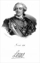 Louis XV (1710-1774) Roi de France à partir de 1715, arrière petit-fils de Louis XIV