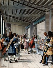 Le roi Louis XIV visitant la Manufacture des Gobelins