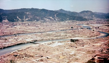 Hiroshima after the dropping of the atom bomb in August 1945